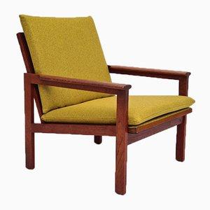 Restored Danish Capella Series Armchair in Teak by Illum Wikkelsø for Niels Eilersen, 1970s