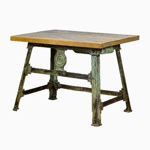 Industrieller Tisch aus genietetem Gusseisen, 1900er