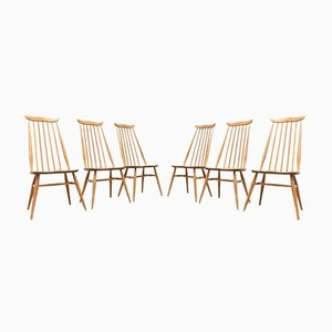 Mid-Century Blonde Elm Dining Chairs by Ercol Goldsmith, Set of 6
