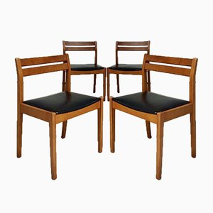 Dänische Mid-Century Esszimmerstühle, 4er Set
