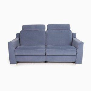 Blaues Zwei-Sitzer Sofa