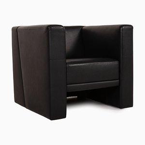 Brühl Black Leather Armchair