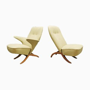 Vintage Dutch Congo & Pinguin Chair by Theo Ruth for Artifort