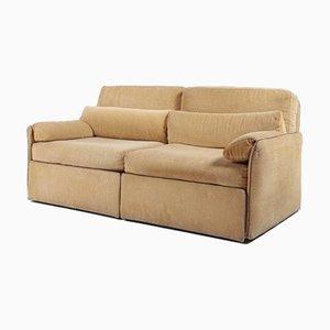 2-Seater Velvet Sofa from LineaItalia, 1980s