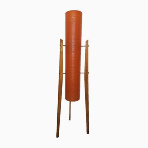 Orange Space Age Rocket Floor Lamp, 1970s