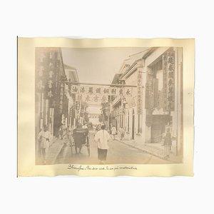 Vues Inconnues de Shanghai, Impressions Albuminées, 1890s, Set de 2