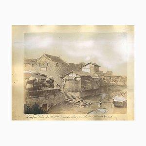 Vues Inconnues de Shanghai, Impressions Albuminées, 1890s, Set de 7