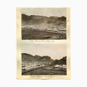 Inconnu, Ancient Views of Aden, Albumine Imprimé Original, 1880s / 90s