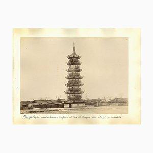 Unknown, Ancient Views of Shanghai, Albumen Prints, 1890s, Set of 4