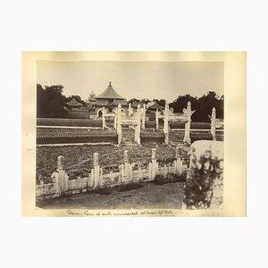 Unbekannte, Antike Ansichten des Himmelstempels in Peking, Original Albumen Druck, 1890er