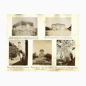 Stampa originale dell'album Unknown, Ancient Views of Beijing, fine XIX secolo
