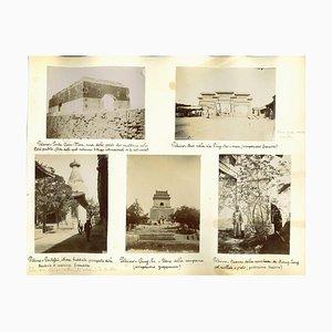 Vistas antiguas desconocidas de Pekín, impresión original de albúmina, década de 1890