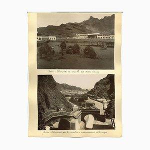 Stampa antica e sconosciuta di Aden, stampa originale dell'album, fine XIX secolo