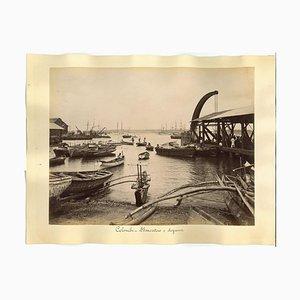 Imprimé, Antique, View de Colombo, 1880s / 90s, Set de 2