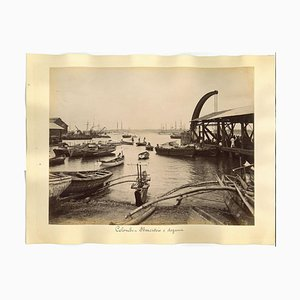 Unknown, Ancient View of Colombo, Albumen Prints, 1880s/90s, Set of 2