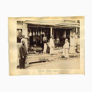Unbekannte, antike Ansichten von Colombo und Aden, Original Albumen Druck, 1880er / 90er