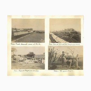 Fotografías desconocidas de río Pei-Ho, impresión original de albúmina, década de 1890