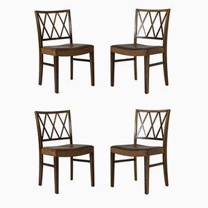 Dining Chairs by Ole Wanscher for Slagelse Møbelværk, Set of 4