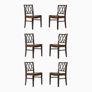 Dining Chairs by Ole Wanscher for Slagelse Møbelværk, Set of 6