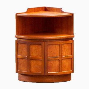 Vintage Scandinavian Corner Cabinet