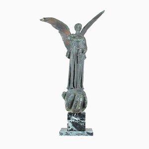 Große Art Deco Bronze Winged Victory