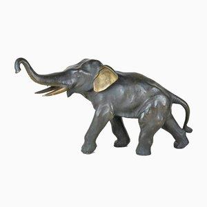 Elefante de bronce, Japón, siglo XIX
