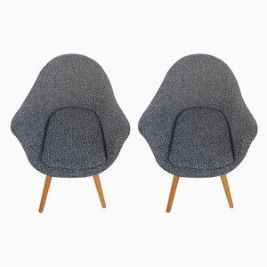 Shell Chairs im Brüsseler Stil von Miroslav Navratil, 1960er, 2er Set