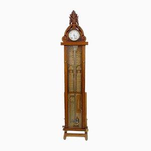 Viktorianisches Admiral Fitzroy Barometer und Uhr