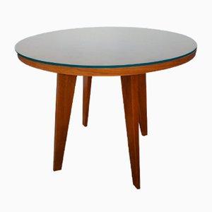 Table Basse en Chêne et Verre, 1960s