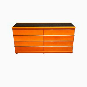 Leather and Opaline Dresser