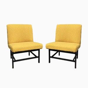 Mid-Century Bouclé Armchairs, Set of 2