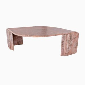 Vintage Marble Eye Shaped Coffee Table, Italy, 1970s