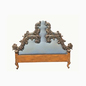 Carved Wooden Headboard, Italy, 20th Century