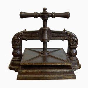 Antique Ornate Book Press, 1870s