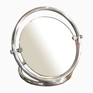 Chrome Plated Table Mirror, Italy, 1970s