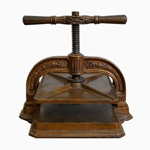 Antique Cast Iron Book Press, 1890s