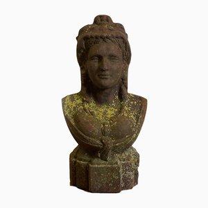 Antique Cast Iron Female Bust