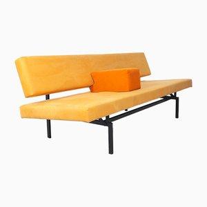 Sofá cama 540 amarillo con reposabrazos de Gijs Van Der Sluis, años 60