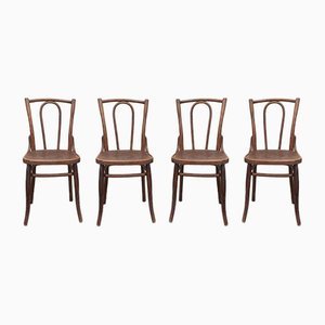 Wooden Bistro Chairs, Set of 4