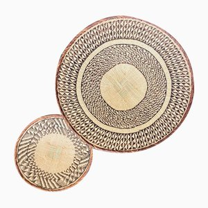 Handwoven African Baskets, Set of 2