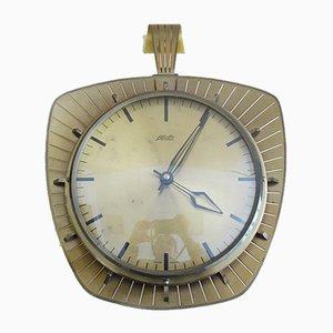 Horloge Murale Atlanta en Laiton et Verre, Allemagne, 1960s