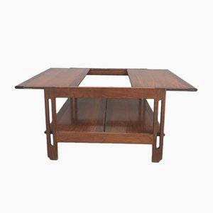 Table Basse Extensible en Teck, 1960s