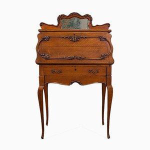Kleiner antiker französischer Eichenholz Schreibtisch, 1900er