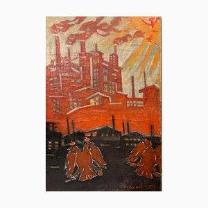 Crescita! Poster sovietico sullo studio dell'olio, 1929