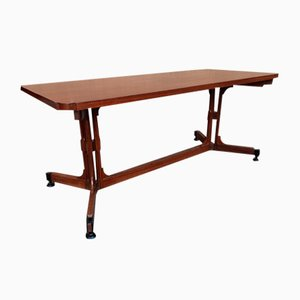 Rectangular Wooden Dining Table, 1950s