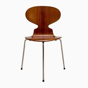 Sedia Ant in palissandro di Arne Jacobsen per Fritz Hansen, Danimarca, anni '50