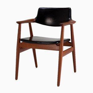 Modell GM11 Armlehnstuhl aus Massivem Teak und Skai von Svend Aage Eriksen für Glostrup