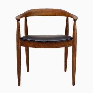 Chaise de Bureau par Illum Wikkelsø pour Niels E. Eilersen, Danemark, 1950s