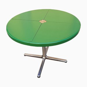 Model Plana Green Lacquered Wooden Folding Table by Giancarlo Piretti, 1970s