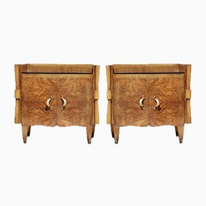 Bedside Table, Italy, 1940s, Set of 2